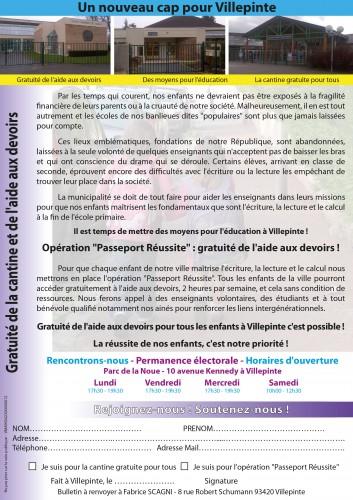 tract verso gratuité de la cantine et de l'aide aux devoirs à Villepinte.JPG